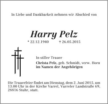 Zur Gedenkseite von Harry