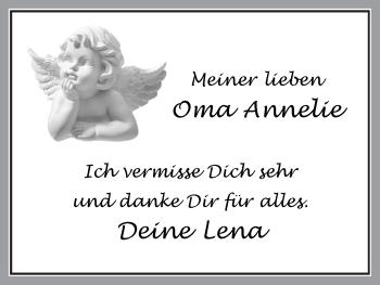 Zur Gedenkseite von Annelie
