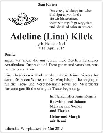 Zur Gedenkseite von Adeline