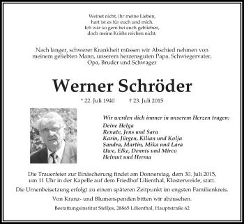 Zur Gedenkseite von Werner