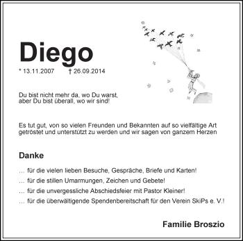 Zur Gedenkseite von Diego