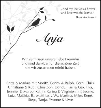 Zur Gedenkseite von Anja