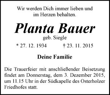 Zur Gedenkseite von PLanta