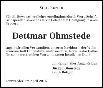 Zur Gedenkseite von Dettmar