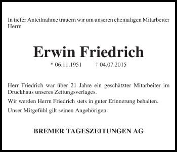 Zur Gedenkseite von Erwin
