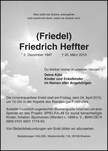 Zur Gedenkseite von Friedrich (Friedel)