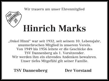 Zur Gedenkseite von Hinrich