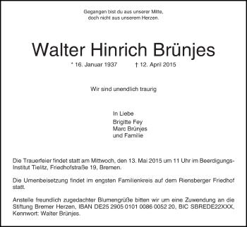 Zur Gedenkseite von Walter Hinrich