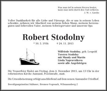 Zur Gedenkseite von Robert