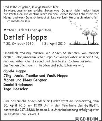 Zur Gedenkseite von Detlef