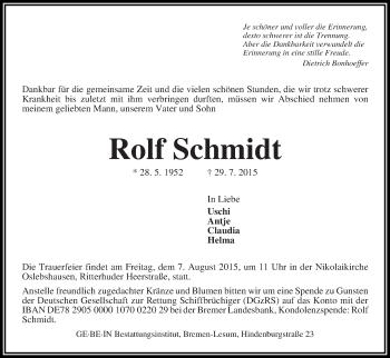 Zur Gedenkseite von Rolf