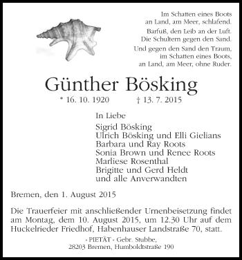 Zur Gedenkseite von Günther