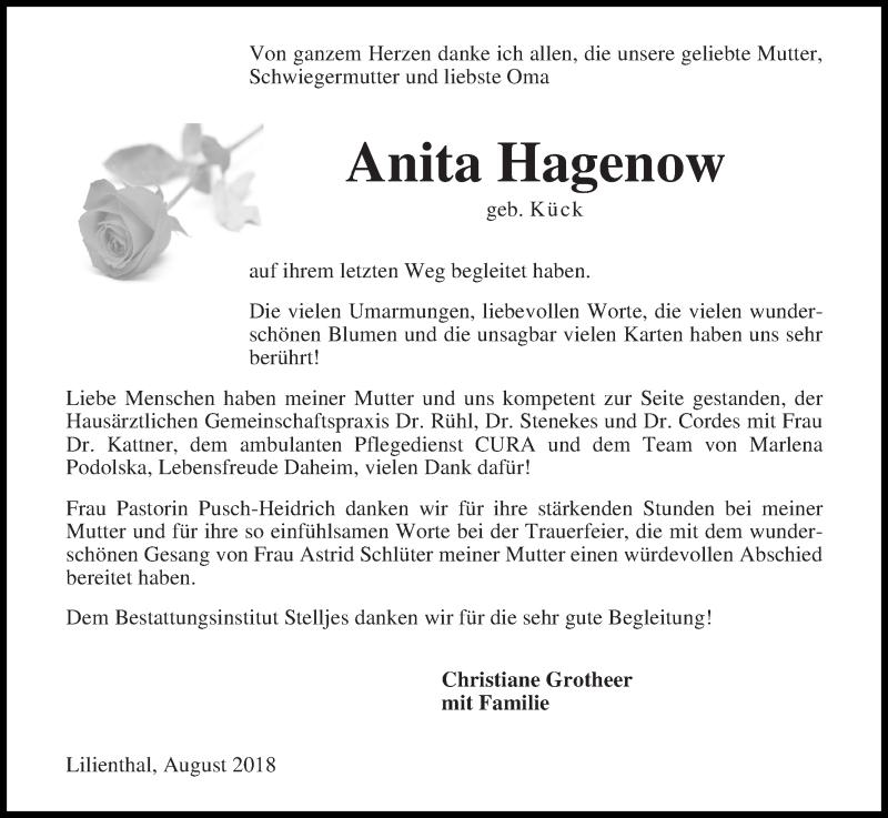 Traueranzeigen Hagenow