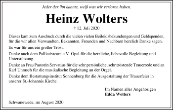 Die Norddeutsche Traueranzeigen
