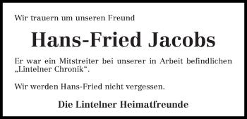 Zur Gedenkseite von Hans-Fried