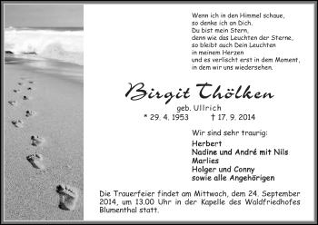 Zur Gedenkseite von Birgit